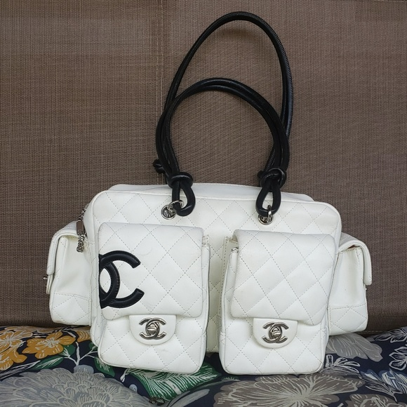 CHANEL Handbags - Chanel Reporter Cambon Large White Quilted Bag